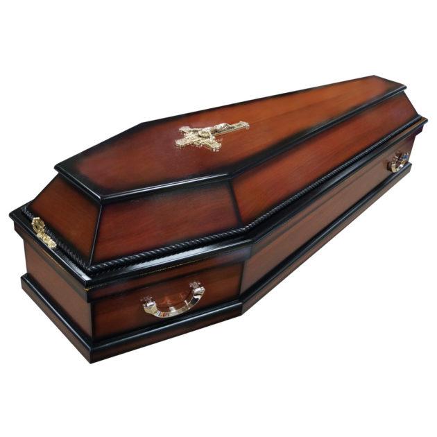 Гроб лакированный №2