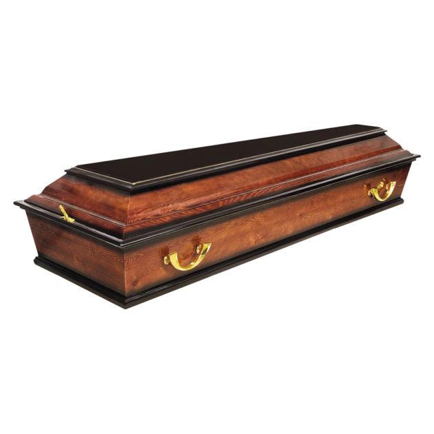 Гроб лакированный №3