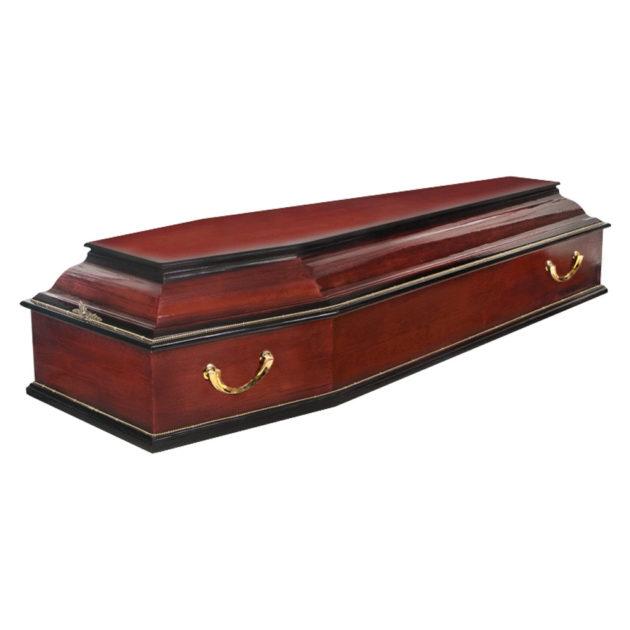 Гроб лакированный №6