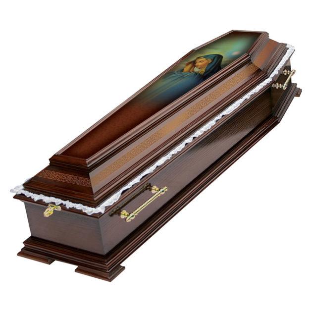 Гроб лакированный №11