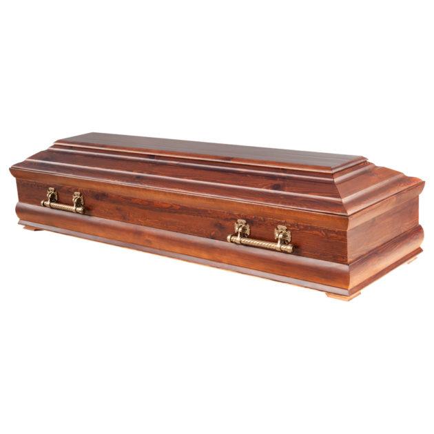 Гроб лакированный №13