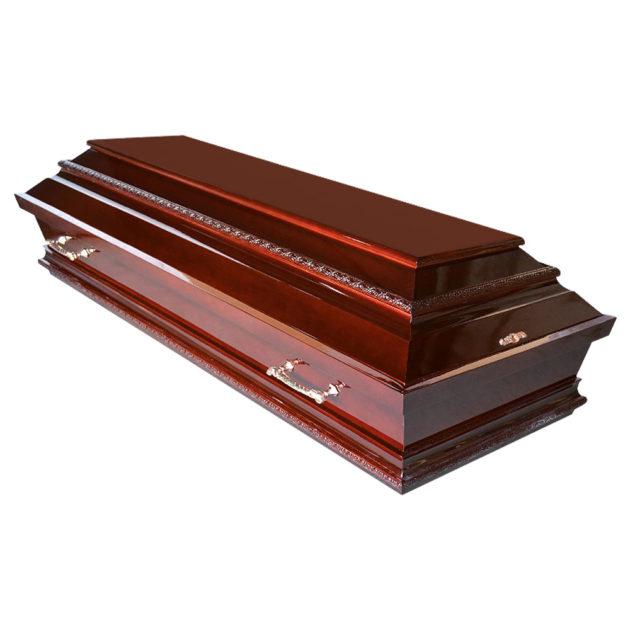 Гроб лакированный №15