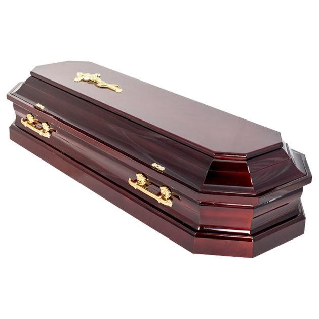 Гроб лакированный №16